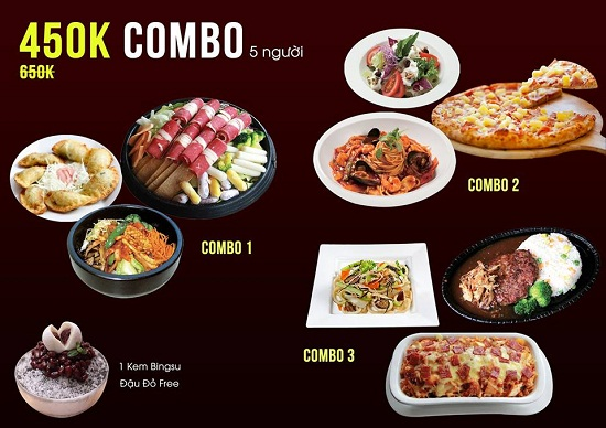 combo 450k tai Cafe Hollywood Vietnam
