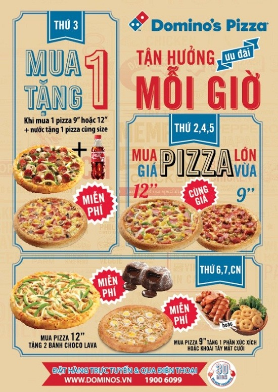 Khuyen mai Domino's Pizza To Hien Thanh